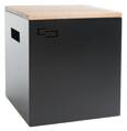 Sheet metal table ALL DOUBLE black