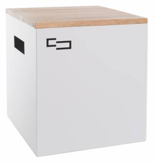Sheet metal table ALL DOUBLE white